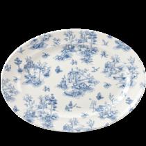 Churchill Vintage Prints Prague Toile Oval Rimmed Dish 36.5 x 29.3cm