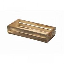 Wooden Crate Dark Rustic 25 x 12 x 5cm