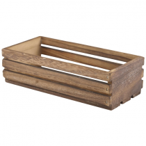 Wooden Crate Dark Rustic Finish 25 x 12 x 7.5cm