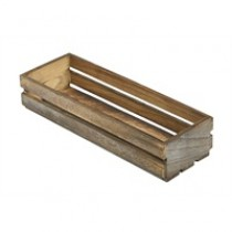 Wooden Crate Dark Rustic Finish 34 x 12 x 7cm