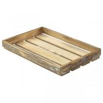 Wooden Crate Dark Rustic Finish 35 x 23 x 4cm
