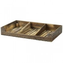 Wooden Display Crate Rustic Finish 53 x 32 x 8cm