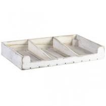Wooden Display Crate White Wash Finish 53 x 32 x 8cm