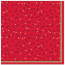Twelfth Night Red Napkins 2ply 33cm