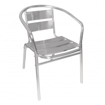 Bolero Stacking Chairs Aluminium