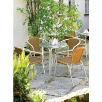 Bolero Aluminium and Natural Wicker Chairs