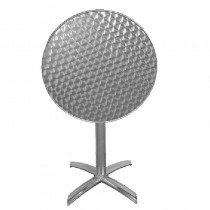 Flip Top Round Table Stainless Steel