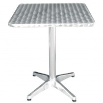 Stainless Steel Square Bistro Table 600mm