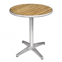 Ash Wood Top Round Bistro Table 720 x 600mm