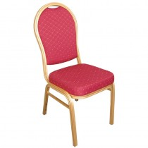 Bolero Arched Back Banquet Chairs Red