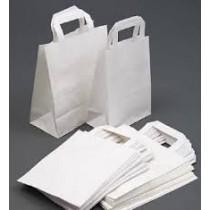 SOS White Carrier Bags Medium