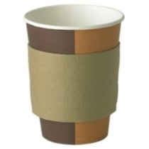 Coffee Cup Brown Sleeves For 8-10oz Paper Hot Cups