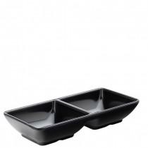 White Melamine Divided Dip Dish (14.5cm) 24 Pack