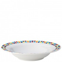 Carlisle Kingline Melamine Pasta Bowls Spanish Tile 19.5cm