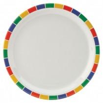 Carlisle Kingline Melamine Plates Caribbean Block 23cm
