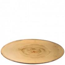 Elm Wood Effect Melamine Footed Oval Platter 65 x 26cm