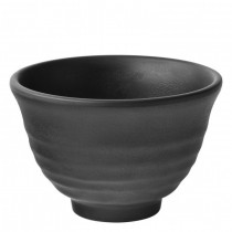 Black Spirit Melamine Tall Footed Bowls 12cm