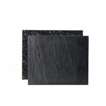 Slate / Granite Effect Reversible Melamine Platter 32 x 26cm
