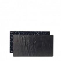 Slate / Granite Effect Reversible Melamine Platters 32 x 17.5cm