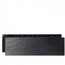 Slate / Granite Effect Reversible Melamine Platters 52 x 16cm