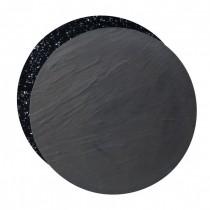 Slate / Granite Effect Reversible Round Melamine Platters 43cm