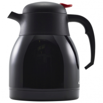Black St/St Vacuum Push Button Jug 1.2L