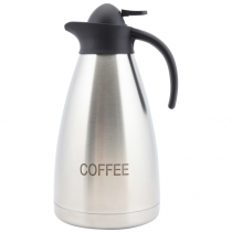 Coffee Inscribed Contemporary Vacuum Jug Stainless Steel