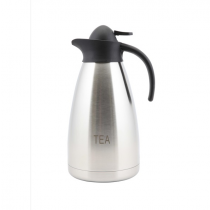 Tea Inscribed Contemporary Vacuum Jug Stainless Steel 2.0L
