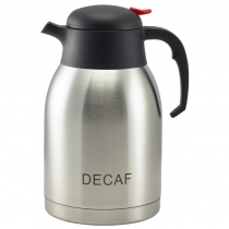 Decaf Inscribed Vacuum Jug Stainless Steel 2.0L