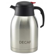 Decaf Inscribed Vacuum Jug Stainless Steel 2.0L