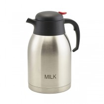 Milk Inscribed St/St Vacuum Push Button Jug 2.0L