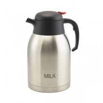 Milk Inscribed St/St Vacuum Push Button Jug 2.0L