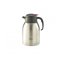 Tea Inscribed Vacuum Jug Stainless Steel 2.0L