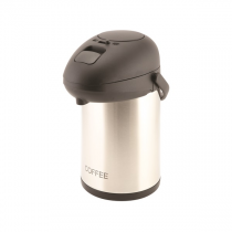 Coffee Inscribed Vacuum Pump Pot Stainless Steel 2.5L
