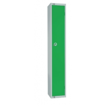 Elite Single Door Padlock Locker with Flat Top Green 300mm