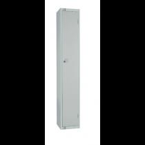 Elite Single Door Padlock Locker with Flat Top Grey 450mm