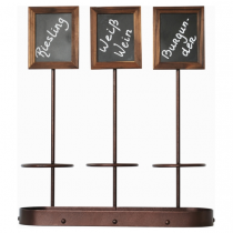 Trio Wine Bottle Chalk Board Stand