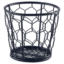 Genware Black Wire Serving Basket 10cm