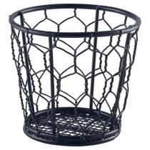 Genware Black Wire Serving Basket 12cm
