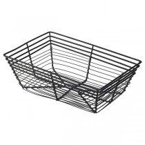 Black Wire Basket Rectangular 23 x 15 x 7.5cm