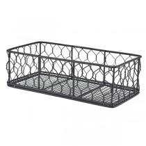 Rectangular Black Wire Basket 25 x 12 x 7.5cm