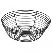 Black Wire Basket Round 25.5 x 8cm