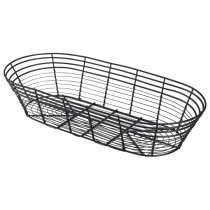 Black Wire Basket Oblong 39 x 17 x 8cm