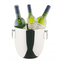 Stainless Steel DeLuxe Curved Shape Wine/Champagne Cooler 20cm