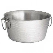 Wave Double Wall Stainless Steel Beverage Tub