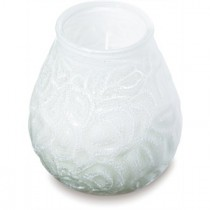 Lowboys Glass Candle White