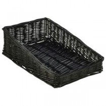 Wicker Display Basket Black 40 x 25 x 12cm