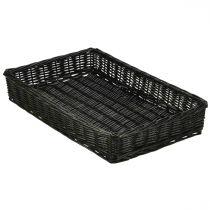 Wicker Display Basket Black 46 x 30 x 8cm
