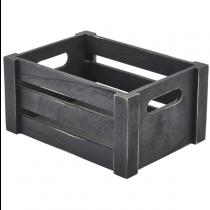 Wooden Crate Black Finish 22.8 x 16.5 x 11cm