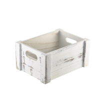 Wooden Crate White Wash Finish 22.8 x 16.5 x 11cm